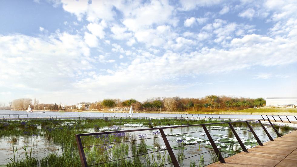 Zagospodarowanie plaży nad Jeziorem Maltańskim