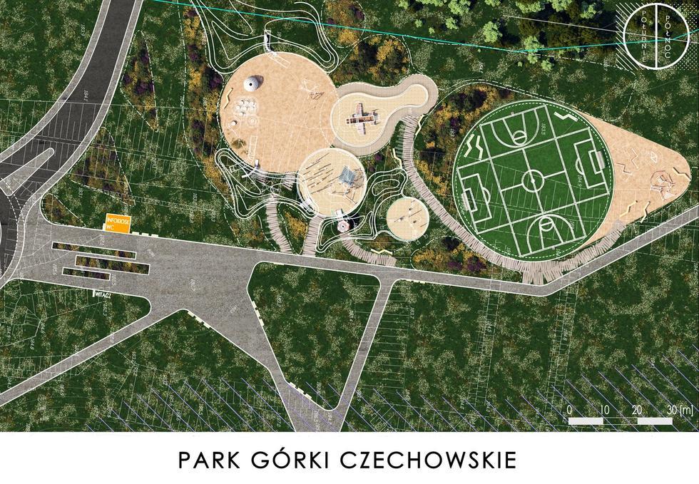 Park na Górkach Czechowskich w Lublinie – nowy projekt Bolesława Stelmacha