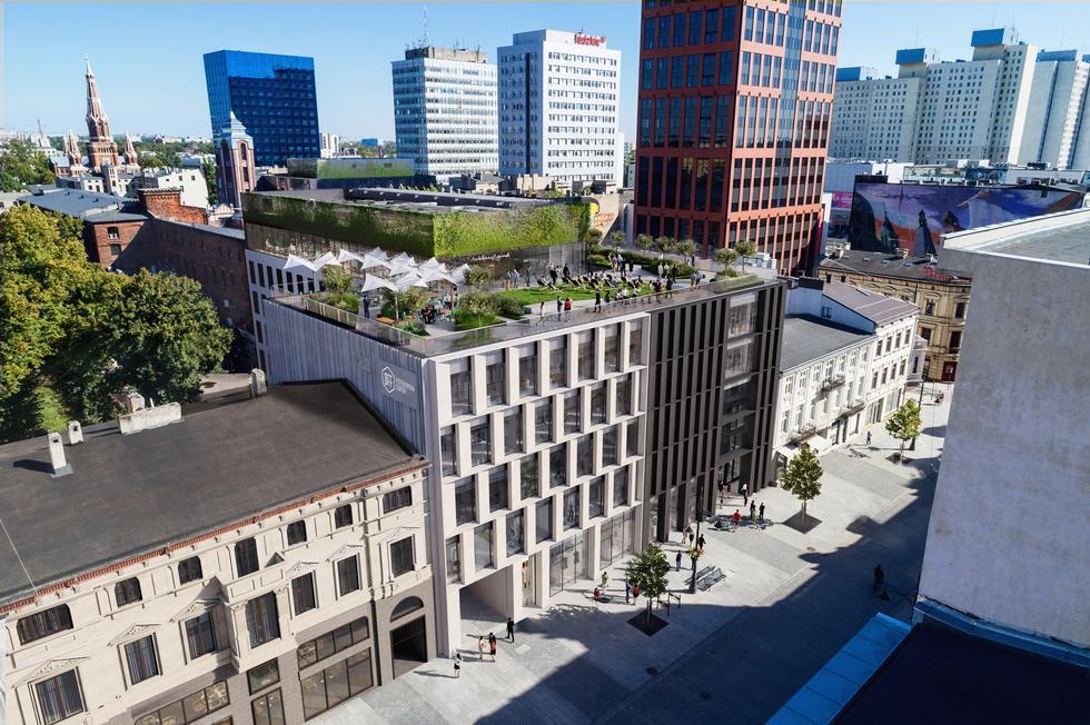 Biurowiec Fern Office w Łodzi – nowy projekt pracowni NOW Andrzeja Owczarka