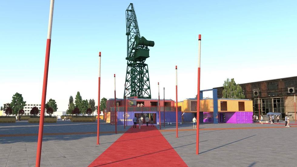 Kontenerowe miasteczko na terenie Stoczni Cesarskiej zaprojektowali studenci!