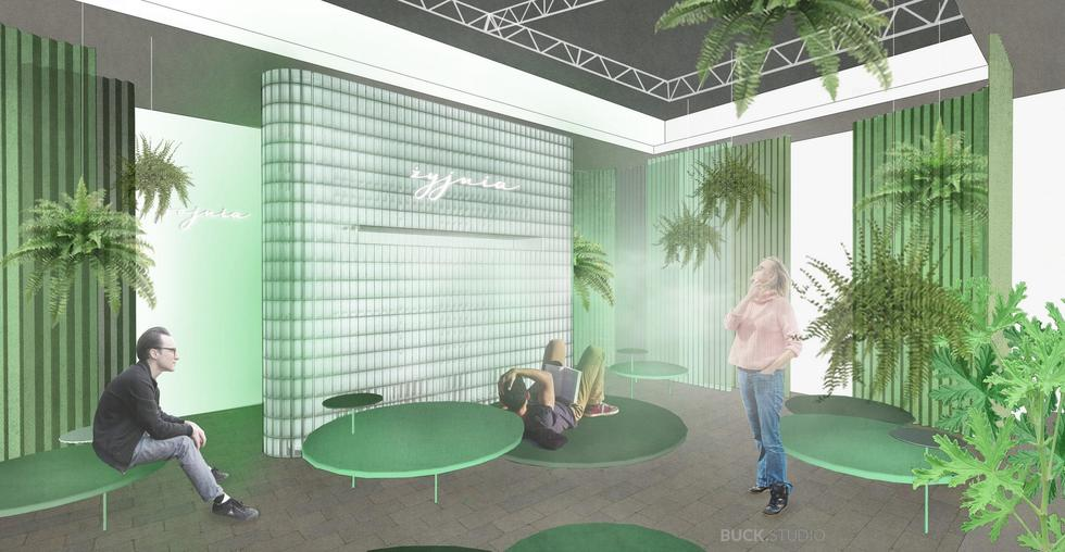 Żyjnia – miejskie sanatorium w galerii Dizajn BWA Wrocław projektu Buck.Studio