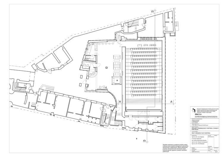 Modernizacja kina Muza w Poznaniu projektu TOYA DESIGN