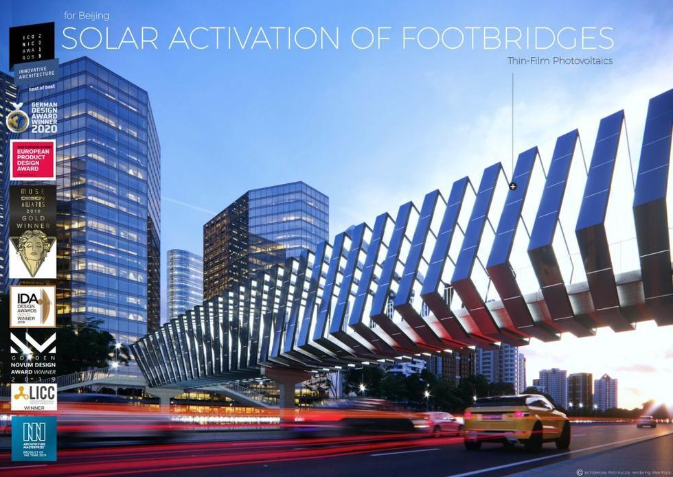 Solarne kładki projektu Piotra Kuczii