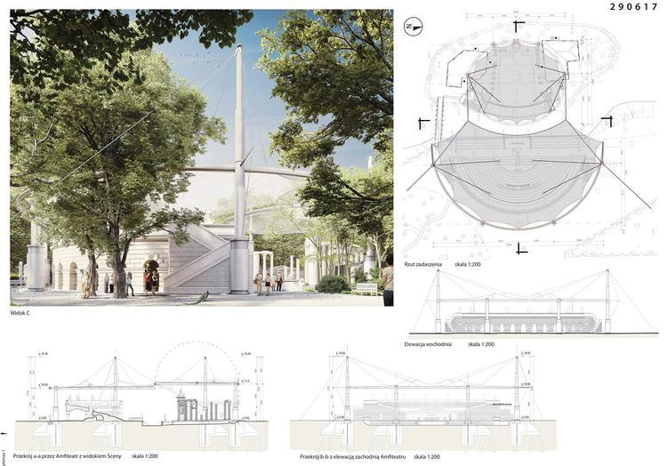 Wyniki konkursu na zadaszenie amfiteatru w Łazienkach