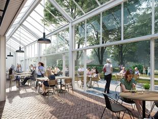 Ogrody Ulricha: WXCA rewitalizuje teren przed centrum handlowym Wola Park [NOWE WIZUALIZACJE]