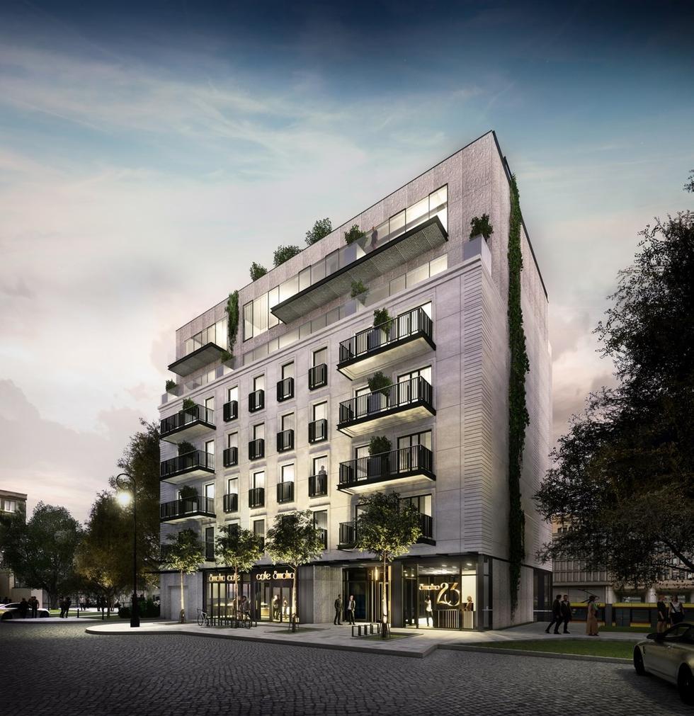 Aparthotel Smolna 23 projektu S.A.M.I. Architekci