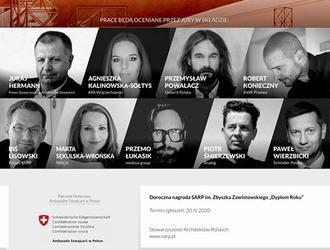Dyplom Roku SARP 2020 – 25 prac nominowanych do Dorocznej Nagrody im. Zbyszka Zawistowskiego Dyplom Roku SARP