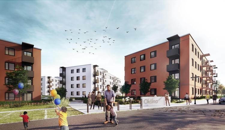 Mieszkanie Plus Toruń: pierwsze osiedle z prefabrykatów w ramach  programu Mieszkanie Plus od  S.A.M.I Architekci