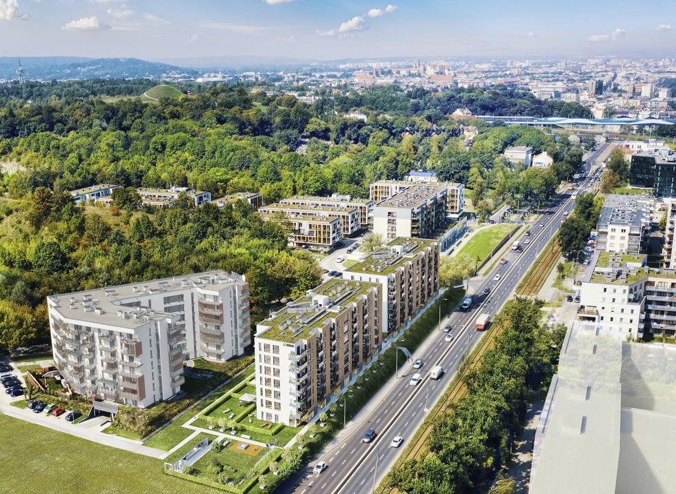Osiedle Jerozolimska w Krakowie projektu ION Architekci.