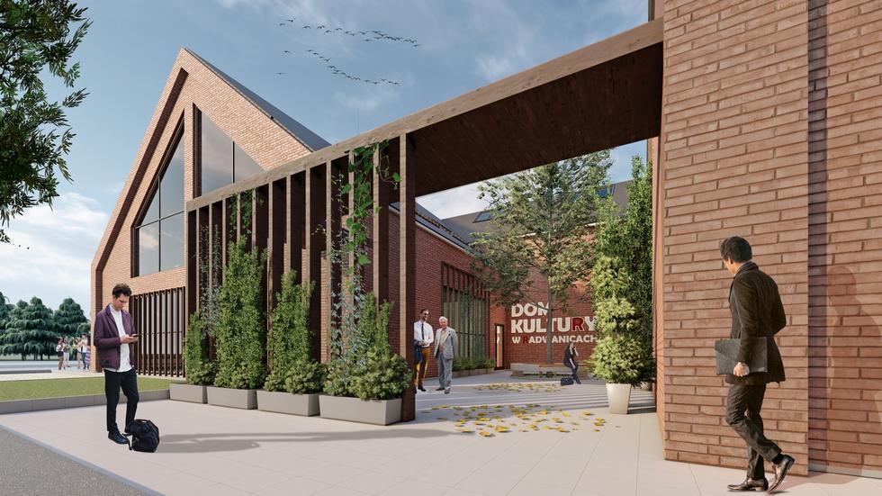 Dom kultury w Radwanicach projektu biura Archenika
