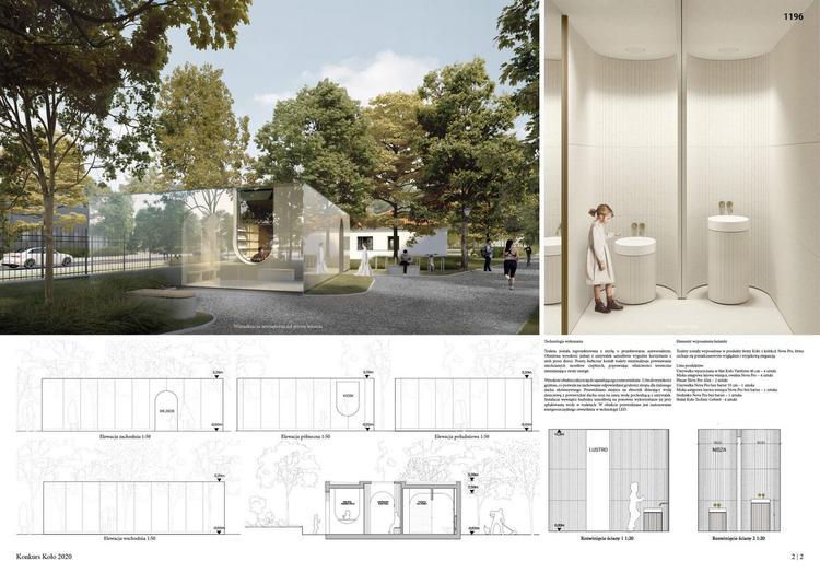 Wyniki konkurs KOŁO na projekt toalety w Łazienkach Królewskich