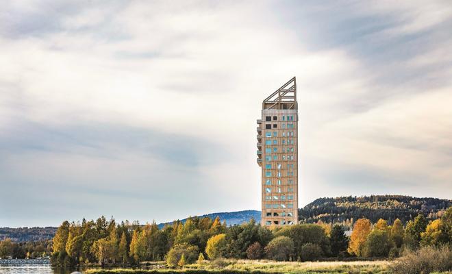 Wieżowiec Mjøstårnet / Norwegia