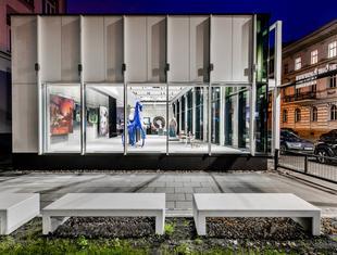 Pawilon wystawienniczy liceum plastycznego w Olsztynie