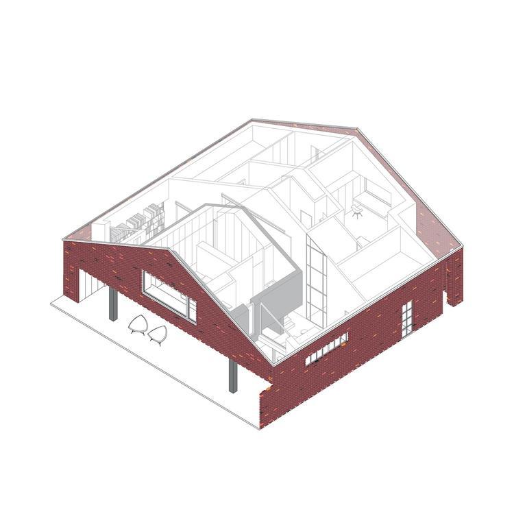 Dom ze starej stodoły projektu Wrzeszcz Architekci