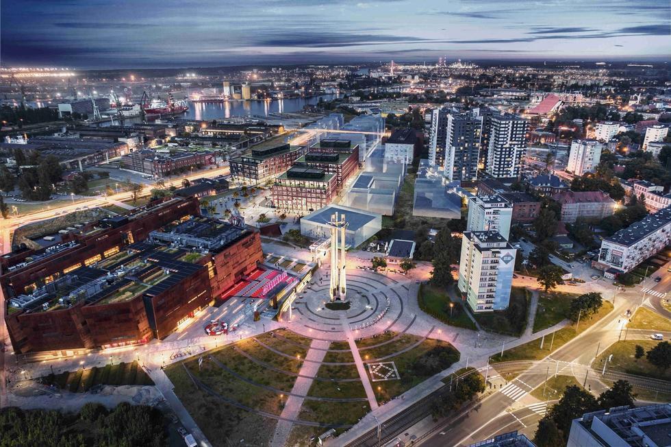 DOKI Gdańsk: wielofunkcyjny zespół projektu trzech pracowni architektonicznych
