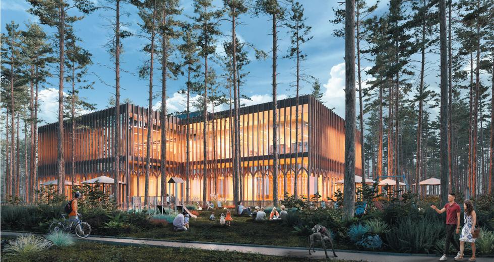 Wyniki konkursu na projekt biblioteki i przedszkola w Józefowie