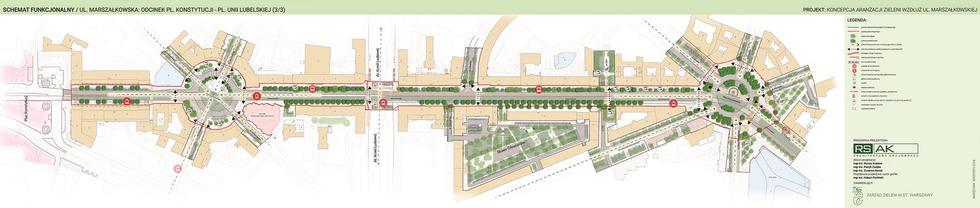 Zielona Marszałkowska: miasto ogłasza przetarg na projekt wykonawczy
