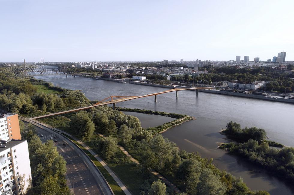 Kładka przez Wisłę w Warszawie: miasto zapowiada budowę