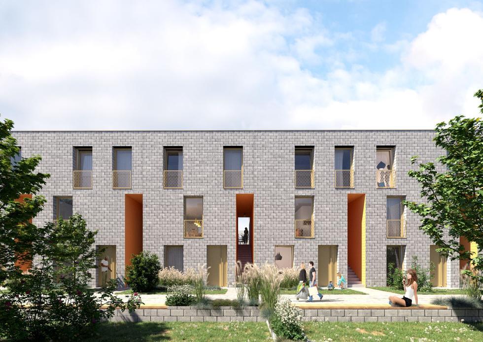 Osiedle Bolko w Bytomiu: budynki z ekonomicznych bloczków projektu medusa group