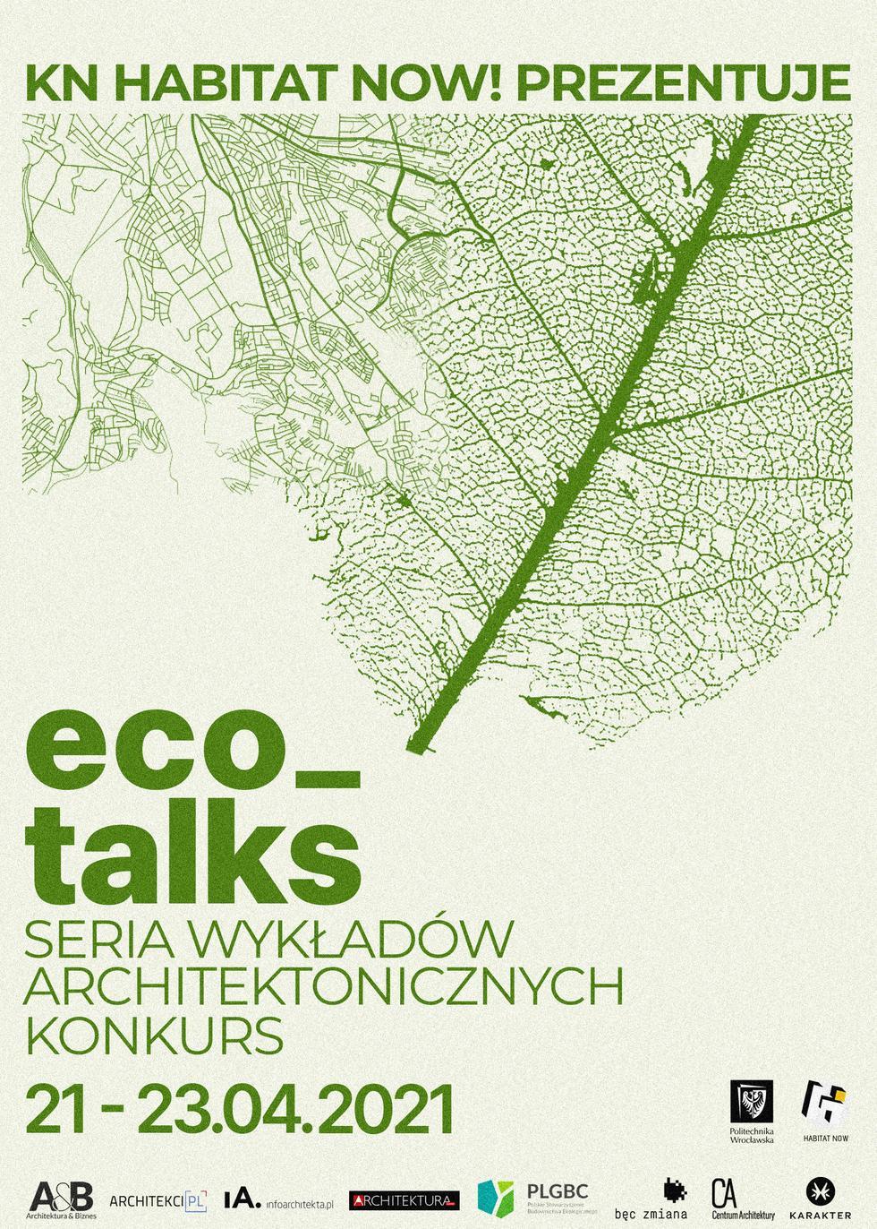 Eco_talks, wydarzenie online organizowane przez koło naukowe Habitat