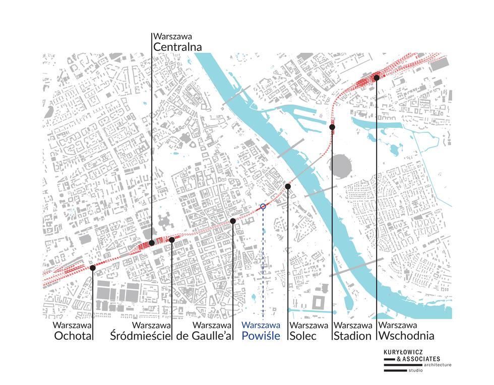 Nowe przystanki linii średnicowej w Warszawie projektu Kuryłowicz & Associates