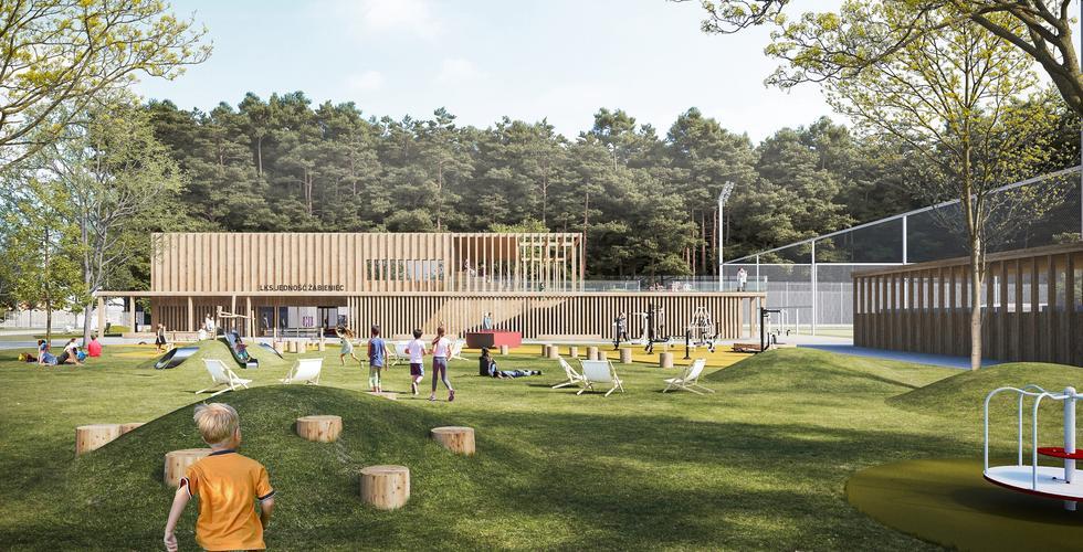 Wyniki konkursu na projekt świetlicy sportowej w Żabieńcu