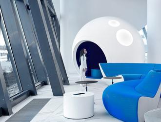 Port lotniczy im. Gagarina w Saratowie z futurystyczną lożą VIP