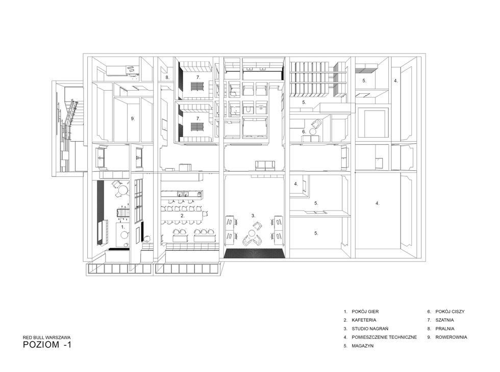 Siedziba firmy Red Bull w Warszawie: nowoczesna przestrzeń w starym forcie