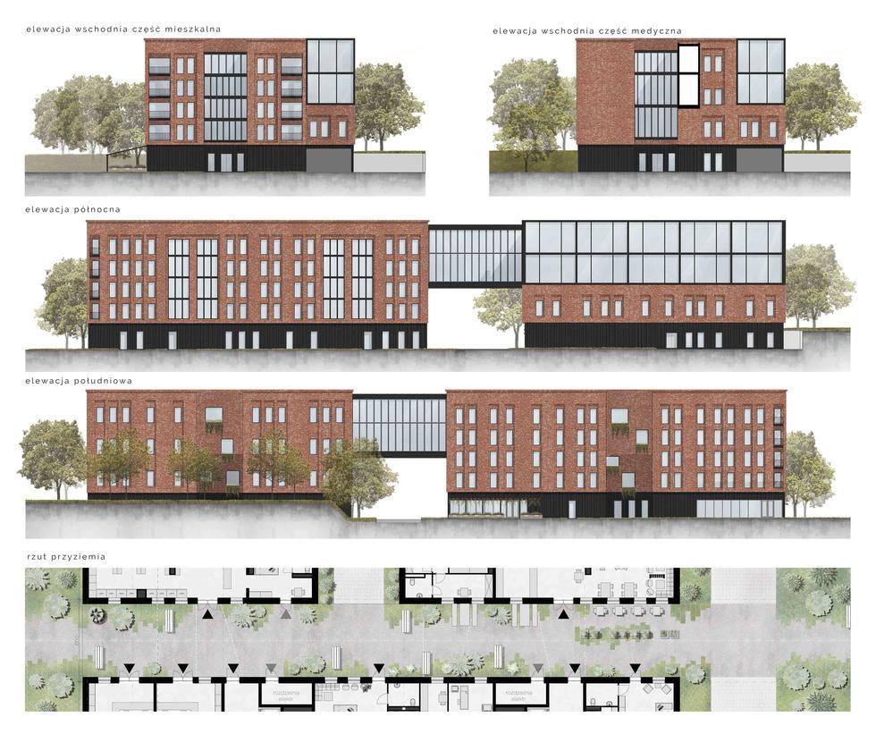 Koncepcja architektoniczna obiektu wielofunkcyjnego z przeznaczeniem dla grupy wiekowej 65+
