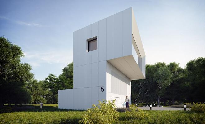 Peryskop od MUS Architects − dom jednorodzinny nad Jeziorem Żywieckim