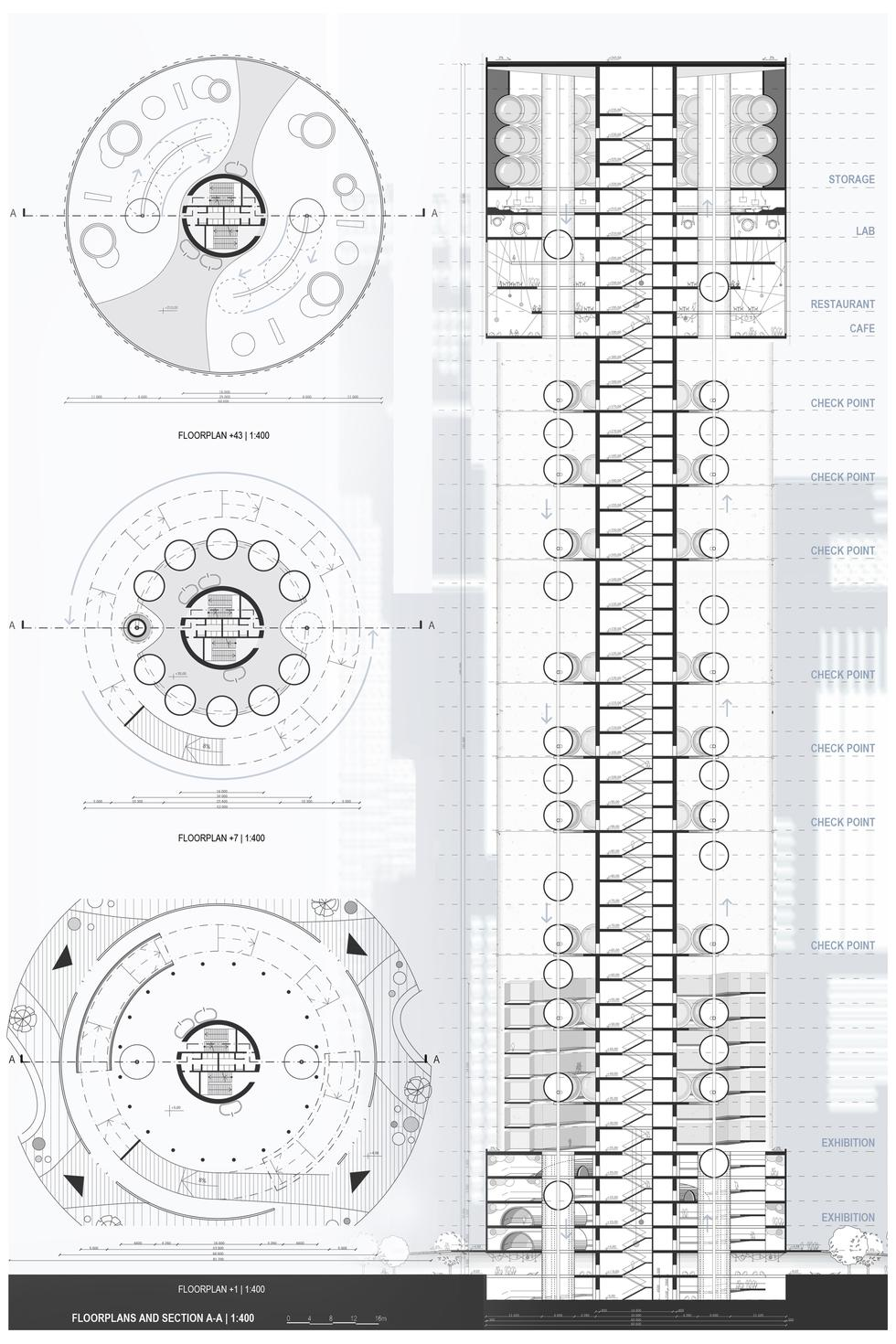 Koncepcja wieżowca Muscatein studentek Wydziału Architektury Politechniki Śląskiej
