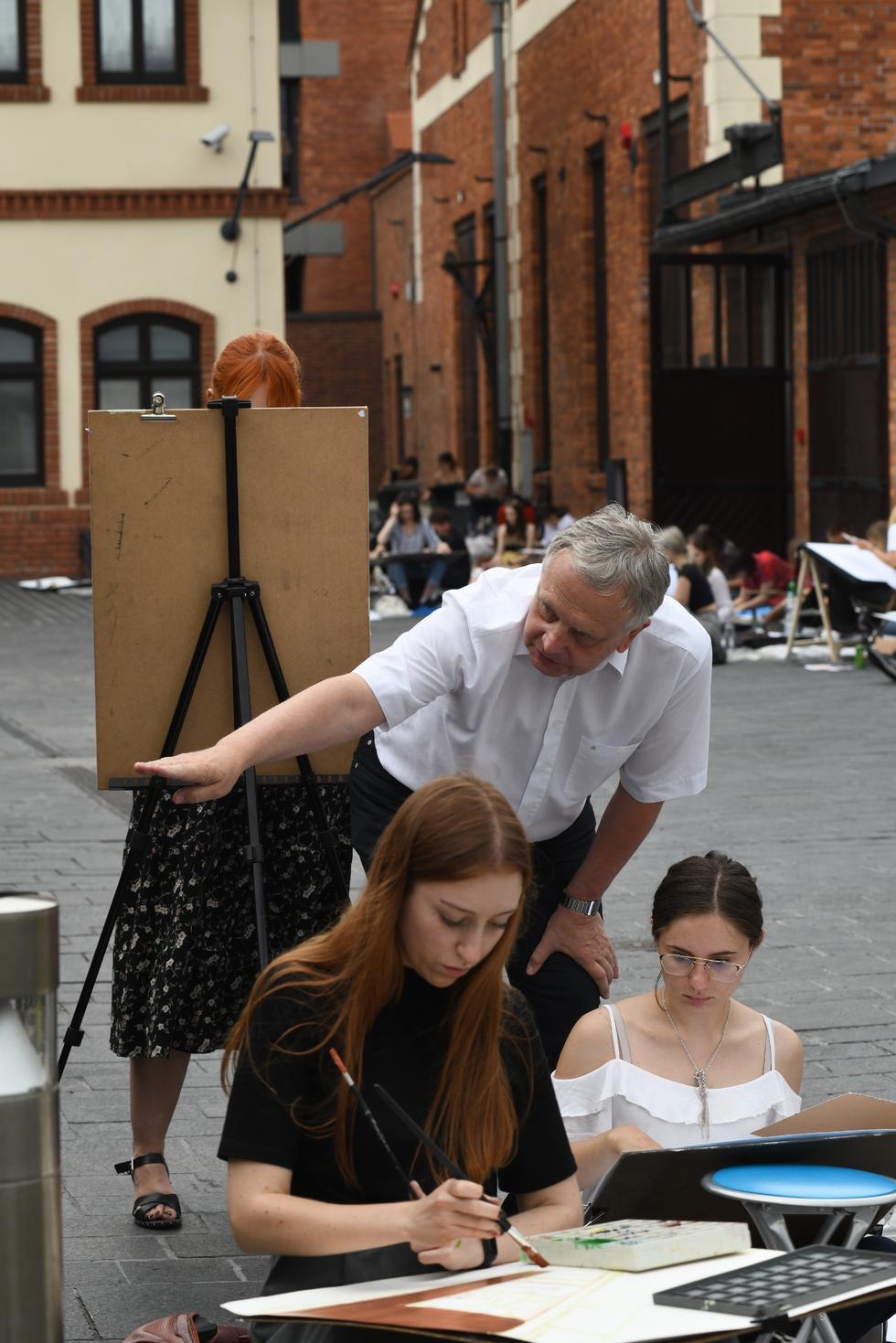 Plener malarski na Wydziale Architektury Politechniki Krakowskiej