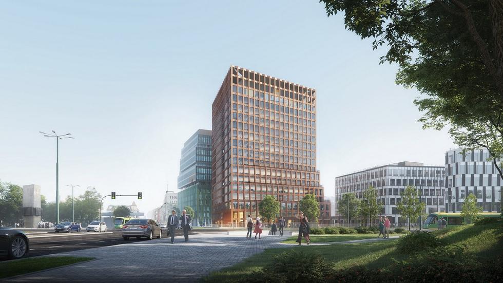 Nowy Rynek w Poznaniu z dominantą projektu Jemsów