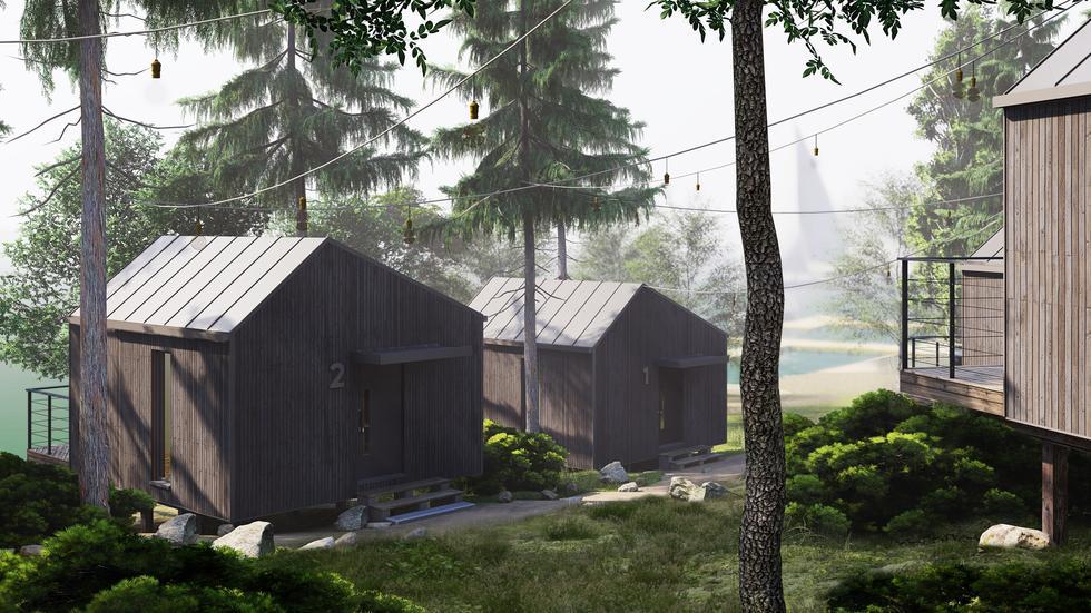 Ruciane Park: domki na Mazurach od Archas Design