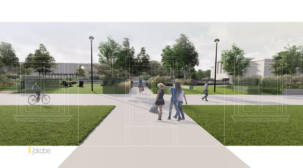 Nowy Skwer Sportów Miejskich w centrum Warszawy projektu JAKABE