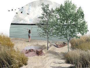 Studenci projektują wschodnie wybrzeże jeziora Paprocańskiego w Tychach