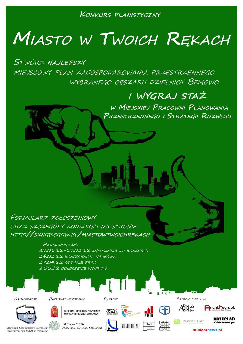 Miasto w twoich rękach - plakat