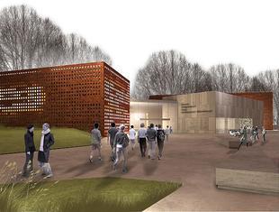 Biblioteka. Projekt rozbudowy kampusu Politechniki Opolskiej