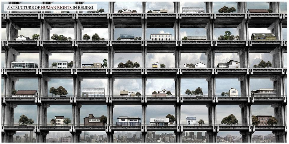 Human Rights Skyscraper - projekt dla Pekinu,Ren Tianhang, Luo Jing, Kang Jun, Chiny