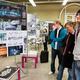 Prace prezentowane na pokonkursowej wystawie Bezpieczniej w mieście