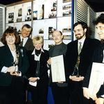 Od lewej: Joanna Łuksza, Ewa Kuryłowicz, Stefan Kuryłowicz, Piotr Kuczyński, Fryderyk Szymański, Tomasz Gientka