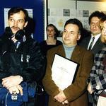 Ryszard Girtler w towarzystwie ekipy WOT z Anną Radwańską