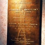 Tablica pamiątkowa – Ulubieniec Warszawy