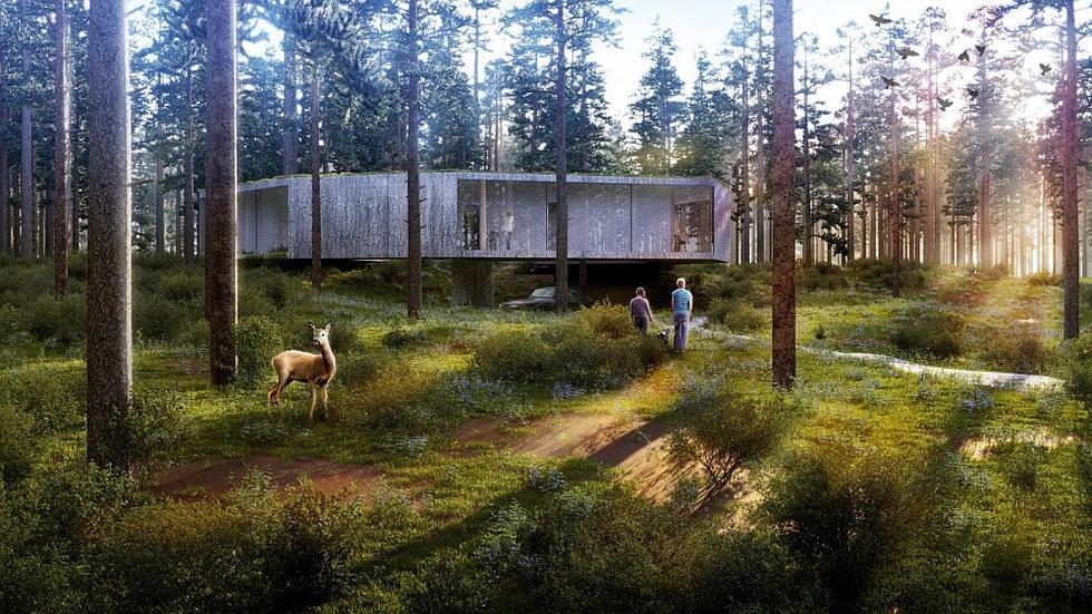 137 Kilo Architekci: projekt domu, wizualizacja