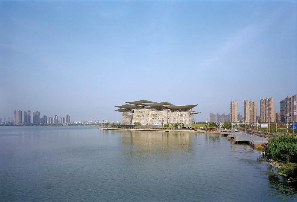 Teatr na sztucznej wyspie w Chinach