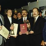 Od lewej: architekci Jakub Wacławek i Grzegorz Stiasny, Jerzy Smoczyński (burmistrz gminy Białołęka), Jacek Kaznowski (przewodniczący Rady Gminy), Irena Szymczyk (sekretarz gminy)