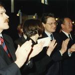 Od lewej: Marek Mikos, zastępca dyrektora Wydziału Urbanistyki gminy Warszawa Centrum, Sławomir Ratajski, Sekretarz Stanu w Ministerstwie Kultury i Sztuki, mecenas Edward Wende