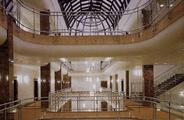 Wnętrze budynku biurowego przy ul. Kasprzaka 25 w Warszawie, widok ogólny