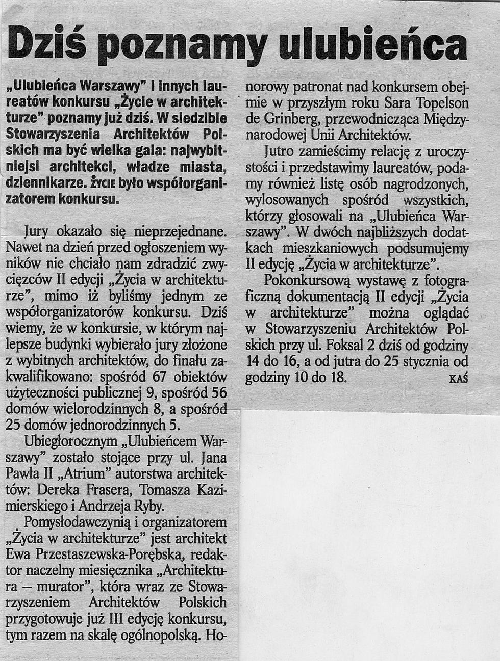 """""""Życie"""" nr 13, 16.01.1998"""