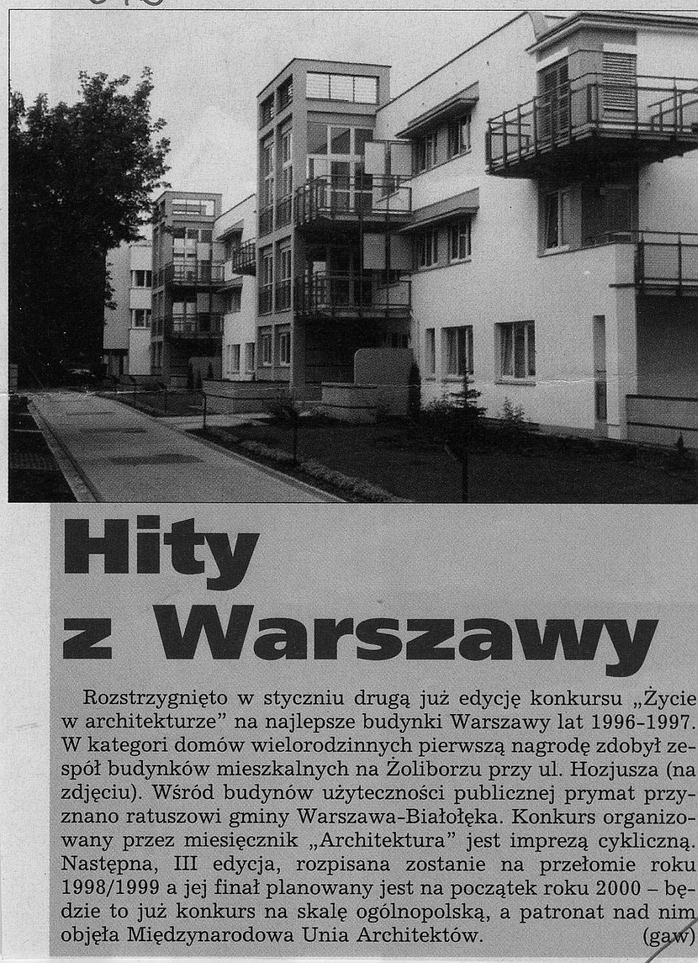 """Hity z Warszawy, """"Trybuna Śląska"""" nr 40, 17.02.1998"""